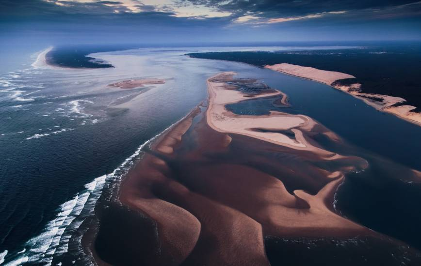 Photo Bassin d'Arcachon : Bassin d'Arcachon - Vu d'en haut #2