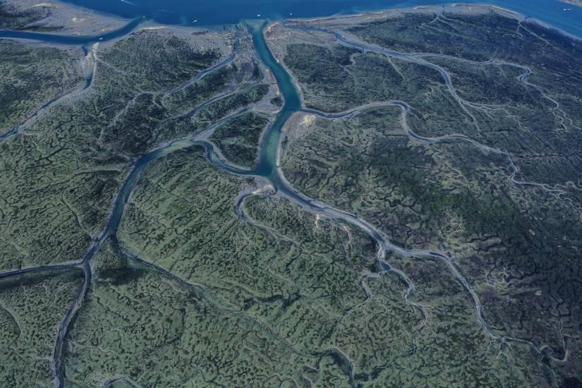 Photo Bassin d'Arcachon : Bassin d'Arcachon - Vu d'en haut #91