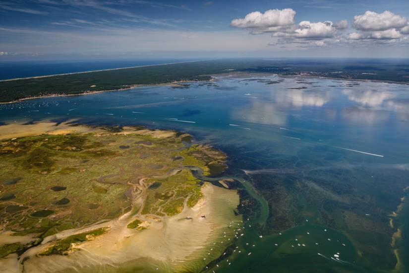 Photo Bassin d'Arcachon : Vu d'en haut #110